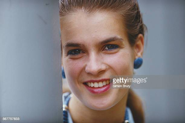 Portrait of Katarina Witt of East Germany on 1 December 1988 in London, United Kingdom.