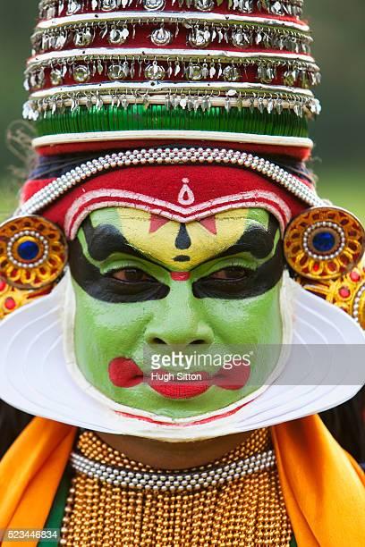 portrait of kathakali dancer, kerala, southern, india - hugh sitton stock pictures, royalty-free photos & images