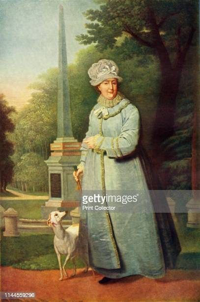 Portrait of Katherine II in the Tsarskoye Selo Park', circa 1810, . 'Catherine II during a walk in the Tsarskoselsky Park'. Catherine II came to the...