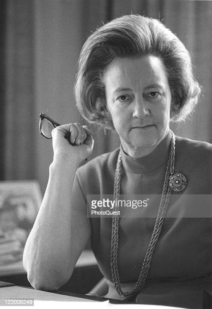 Portrait of Katherine Meyer Graham, president of the Washington Post Company, Washington, DC, 1969.