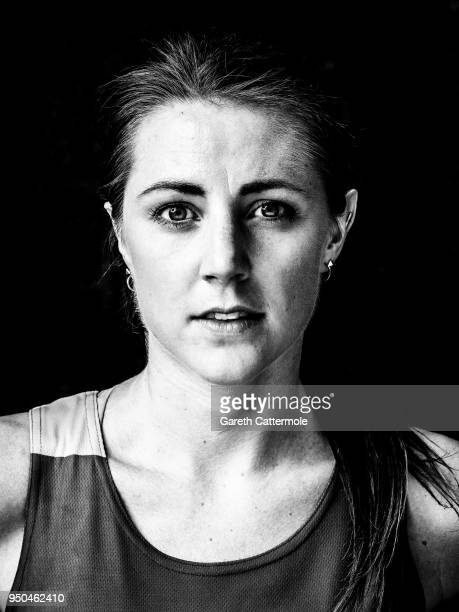 A portrait of Katie Murray a physio after she completed the Virgin Money London Marathon in 031659 on April 22 2018 in London England