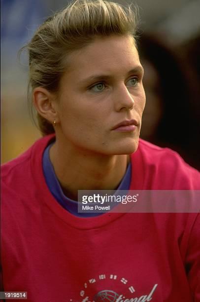 Portrait of Katrin Krabbe of Germany during the 1991 IAAF Grand Prix in Berlin Mandatory Credit Mike Powell/Allsport