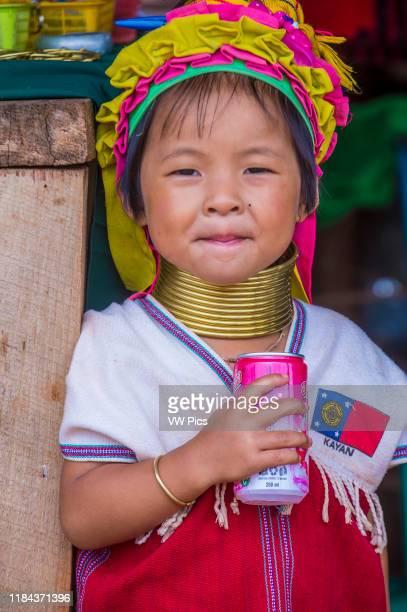 Portrait of Kayan tribe woman in Kayan state Myanmar