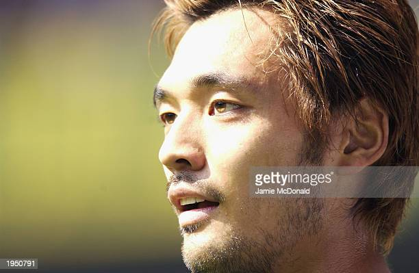 Portrait of Kazuyuki Toda of Tottenham Hotspur during the FA Barclaycard Premiership match between Tottenham Hotspur and Manchester City held on...