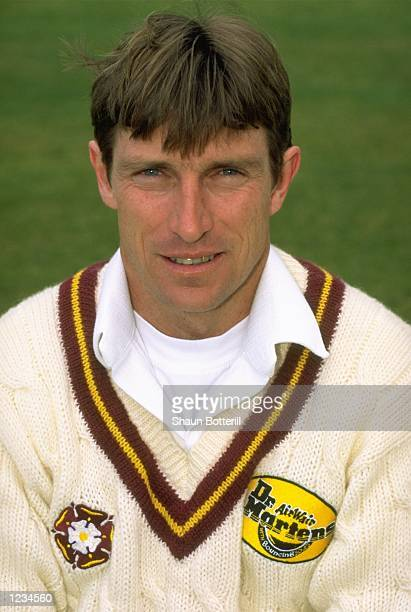 Portrait of Kevin Curran of Northamptonshire CCC at the County Ground in Northampton England Mandatory Credit Shaun Botterill /Allsport