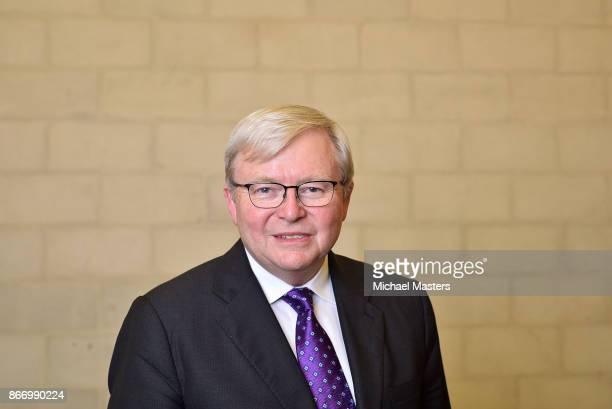 Portrait of Kevin Rudd, former Prime Minister of Australia, on October 27, 2017 in Canberra, Australia. Kevin Rudd was Prime Minister of Australia...