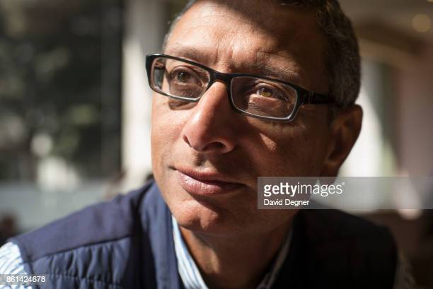 Portrait of Khalid Ismail Chairman of KI Angel investment fund on March 30 2017 in Cairo Egypt He often meets possible partners at the coffee shop in...