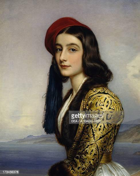 Portrait of Khatarina Botzaris painting by Joseph Karl Stieler oil on canvas 72x58 cm Monaco Schloss Nymphenburg Schonheitengalerie