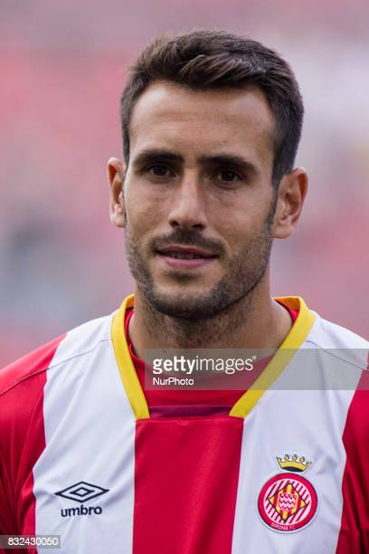 Portrait of Kiko Olivas of Girona FC from Spain of Girona FC during the Costa Brava Trophy match between Girona FC and Manchester City at Estadi de...