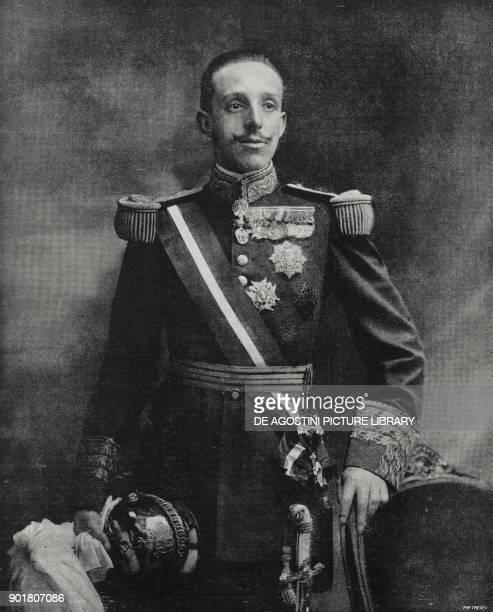 Portrait of King Alfonso XIII of Spain , from L'Illustrazione Italiana, Year L, No 46, November 18, 1923.