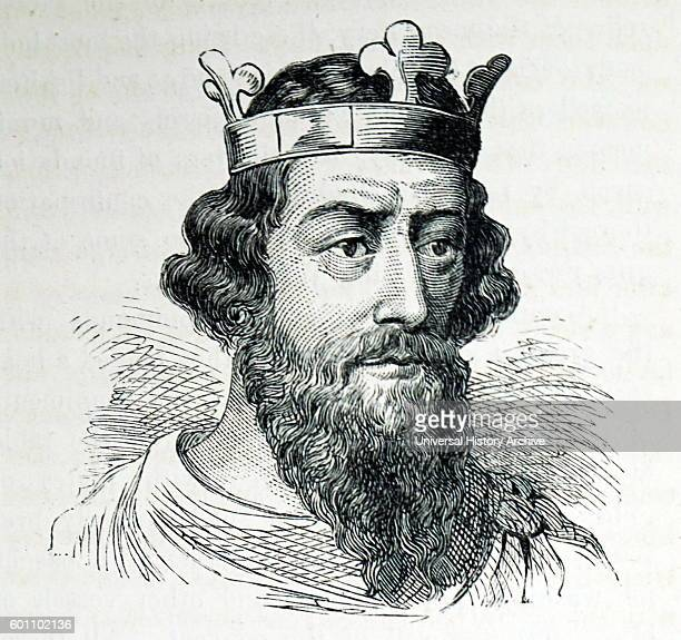 Portrait of King Alfred also known as Alfred the Great Dated 9th Century