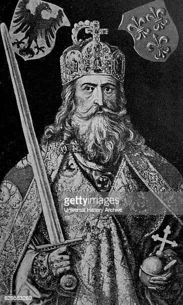 Portrait of King Charlemagne King of the Franks