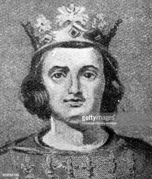 Portrait of King Charles IV of France he Fair was Count of Champagne King of Navarre and the last 'direct' Capetian King of France Dated 14th Century