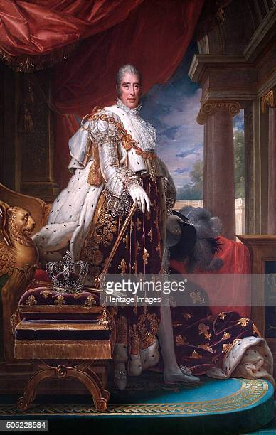 Portrait of King Charles X of France in his coronation robes c1824 Presented to the Duke of Wellington in 1826 by Charles X From the collection of...