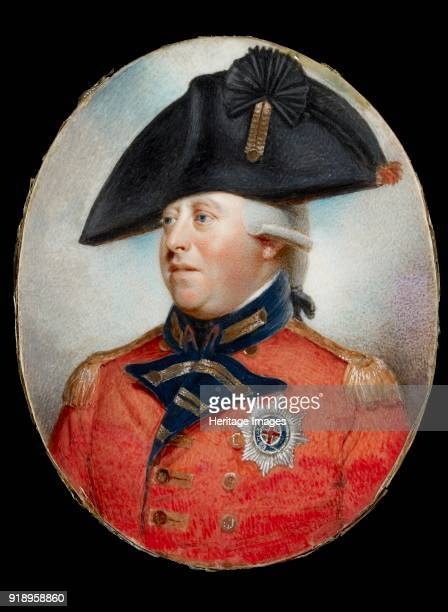 Portrait of King George III in oval frame 18th century Dimensions undefined 11165 x 869 cmheight x width x depth frame 131 x 974 mm 94 deep