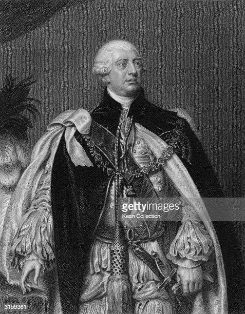 Portrait of King George III of England whose reign beginning in 1760 spanned the American Revolution