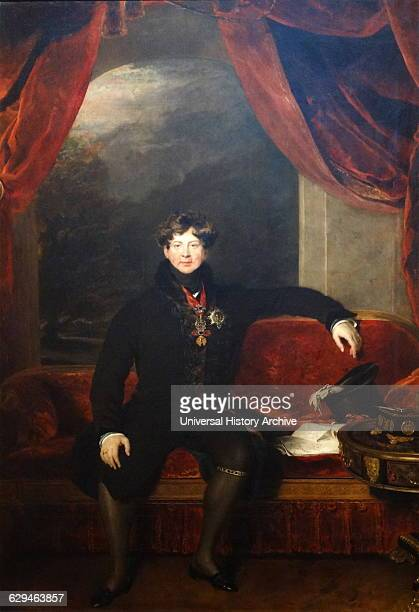 Portrait of King George IV by Thomas Lawrence English portrait painter and president of the Royal Academy Dated 1822