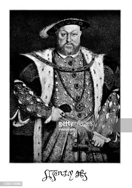 portrait of king henry viii (28 june 1491 – 28 january 1547) king of england - king royal person stock pictures, royalty-free photos & images
