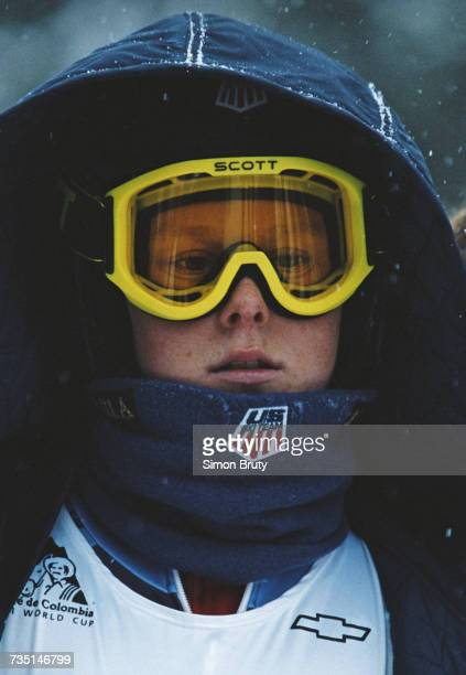 A portrait of Kirsten L Clark of the United States during the Women's Downhill event at the International Ski Festival on 5 December 1996 in Vail...