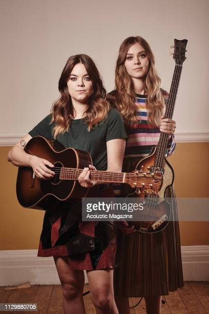 Portrait of Klara Soderberg and Johanna Soderberg of Swedish indie group First Aid Kit, photographed in London on November 3, 2017.