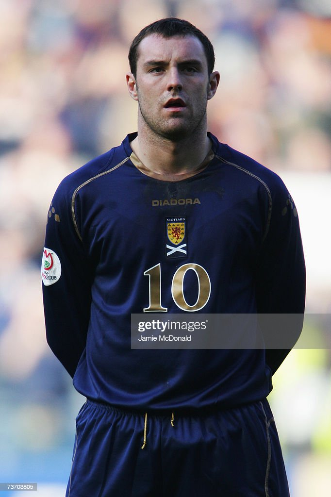 A portrait of Kris Boyd of Scotland during the Euro2008, Group B, qualifier between Scotland and Georgia on March 24, 2007 at Hampden Park, Glasgow, Scotland.