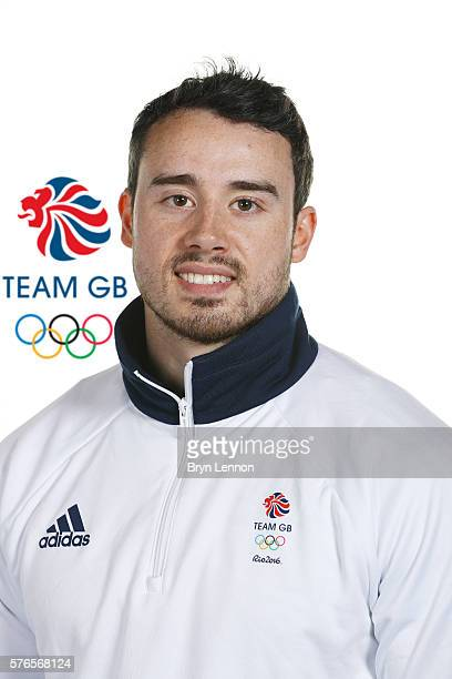 A portrait of Kristian Thomas a member of the Great Britain Olympic Gymnast team during the Team GB Kitting Out ahead of Rio 2016 Olympic Games on...