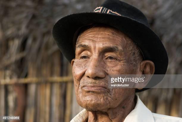Portrait of Kuna Indian chief in Panama