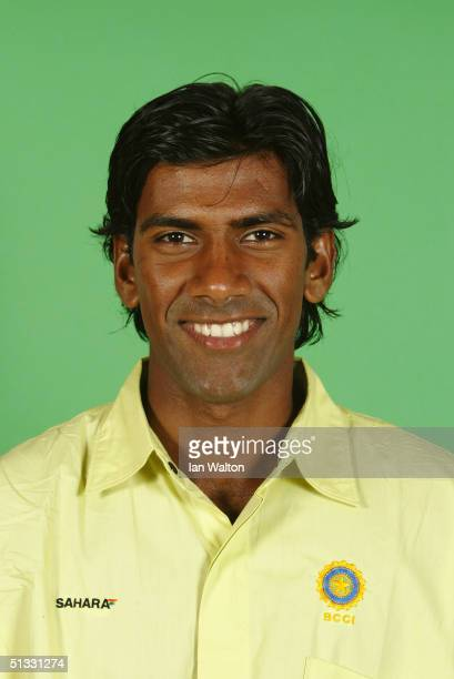 A portrait of Lakshmipathy Balaji of India taken during an ICC photocall at the Victoria Park Plaza on September 6 2004 in London