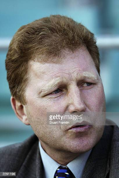 Portrait of Latvia coach Aleksandrs Starkovs taken during the Baltic Cup match between Latvia and Estonia held on July 5 2003 at the ALe Coq Arena in...