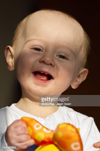 portrait of laughing boy - s0ulsurfing stockfoto's en -beelden
