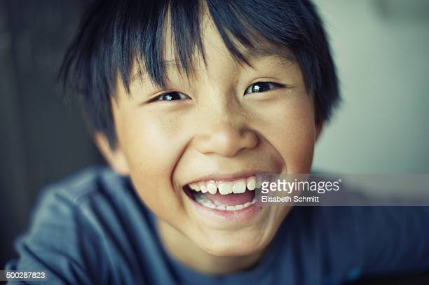 Portrait of laughing boy