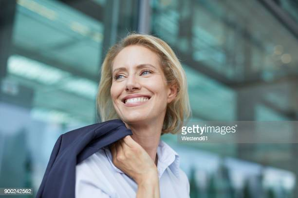 Portrait of laughing businesswoman