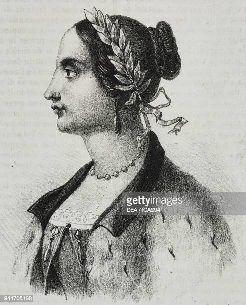 Portrait of Laura Bassi Veratti Italian physicist and academic lithograph by Salvatore Puglia from Poliorama Pittoresco n 4 September 4 1841