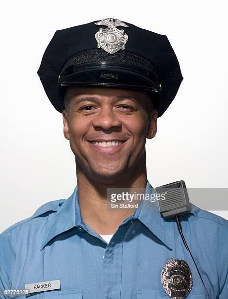 portrait of law enforcement officer, close-up