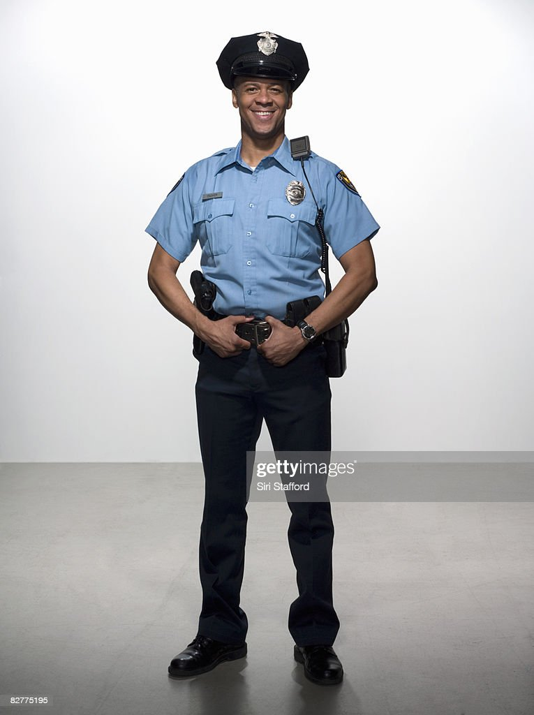portrait of law enforcement officer : Stock Photo