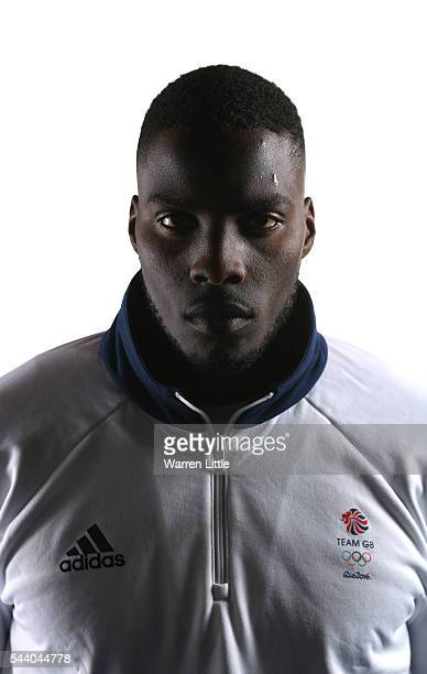 A portrait of Lawrence Okolie a member of the Great Britain Olympic team during the Team GB Kitting Out ahead of Rio 2016 Olympic Games on July 1...