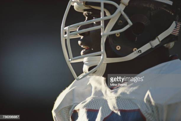 Portrait of Lawrence Taylor, linebacker for the New York Giants during the National Football Conference game against the Phoenix Cardinals on 23...