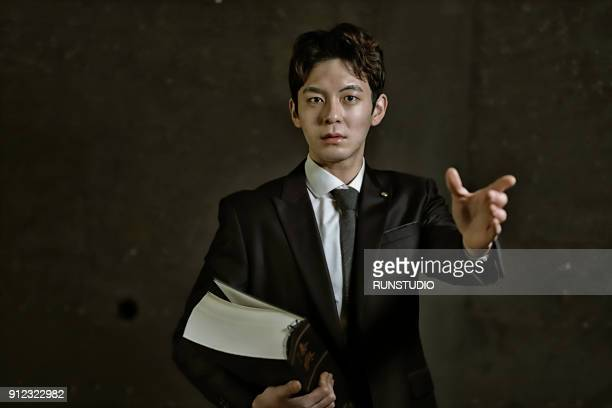 portrait of lawyer - 上半身 ストックフォトと画像