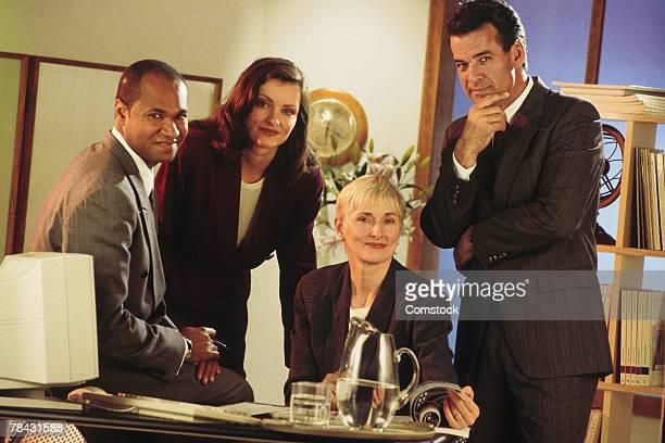 Portrait of lawyers in law office