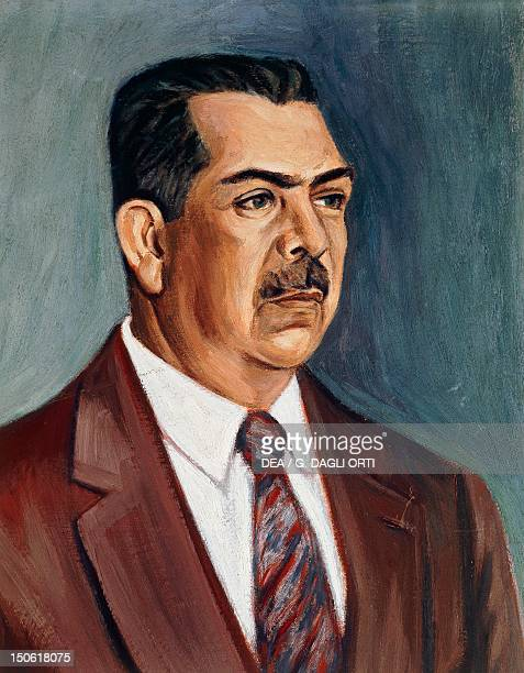 Portrait of Lazaro Cardenas del Rio Mexican military leader and politician President of Mexico 19341940 Mexico20th century