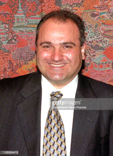 Portrait of LebaneseAmerican businessman 'Middle East Insight' magazine editor and convicted sex offender George Nader during an event sponsored by...