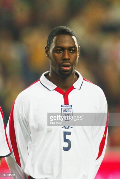 Portrait of Ledley King of England taken before the International Friendly match between Portugal and England held on February 18, 2004 at the...