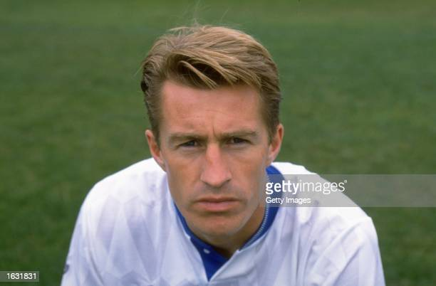 Portrait of Lee Chapman of Leeds United during a photocall at Elland Road in Leeds England Mandatory Credit Allsport UK /Allsport