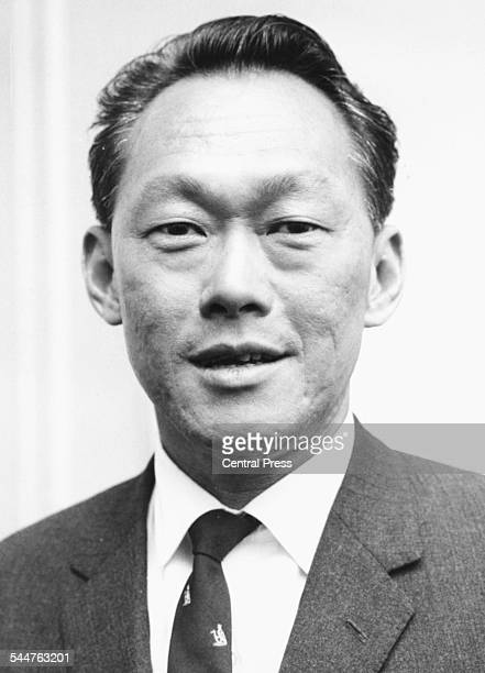 Portrait of Lee Kuan Yew Prime Minister of Singapore November 1976