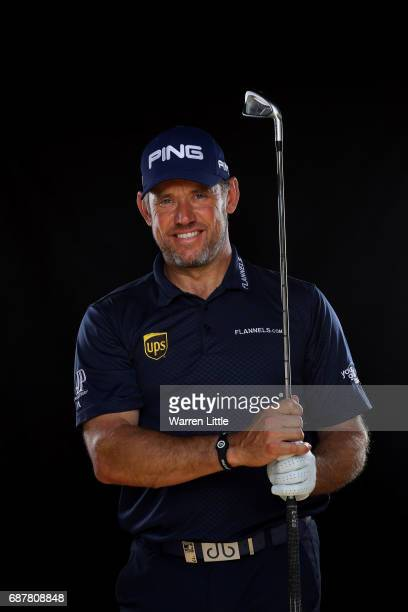 Portrait of Lee Westwood of England ahead of the BMW PGA Championships on the West Course at Wentworth on May 24, 2017 in Virginia Water, England.