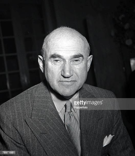 Portrait of legendary American Hollywood film chief Sam Goldwyn pictured while in London 1946