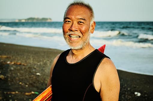 Portrait of legendary surfer - gettyimageskorea