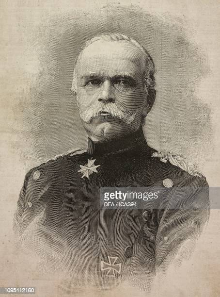 Portrait of Leon von Caprivi German politician engraving by Cantagalli from a photograph by Loescher and Petsch from L'Illustrazione Italiana No 44...