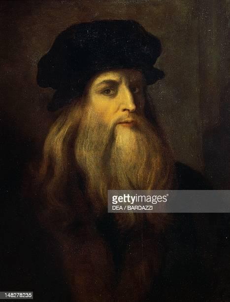 Portrait of Leonardo da Vinci 17th century anonymous artist Florence Galleria Degli Uffizi