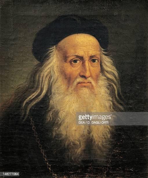 Portrait of Leonardo da Vinci by Lattanzio Querena Padova Musei Civici Eremitani Museo D'Arte Medievale E Moderna